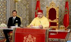 SM -le-Roi-discours-Fete-du-Trone_ Marocco