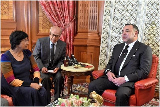Sua Maestà il Re Mohammed VI presso il Palazzo Reale