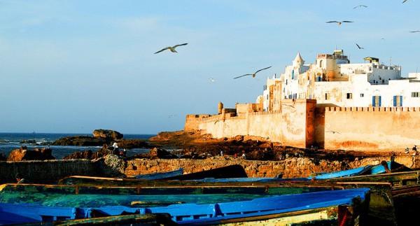 Un panorama della città di Essaouira, Marocco