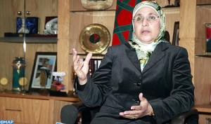 Il ministro della Solidarietà, delle Donne, della Famiglia e dello  Sviluppo sociale, Bassima Hakkaoui