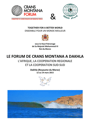 Forum Crans Montana Dakhla 12/14-03