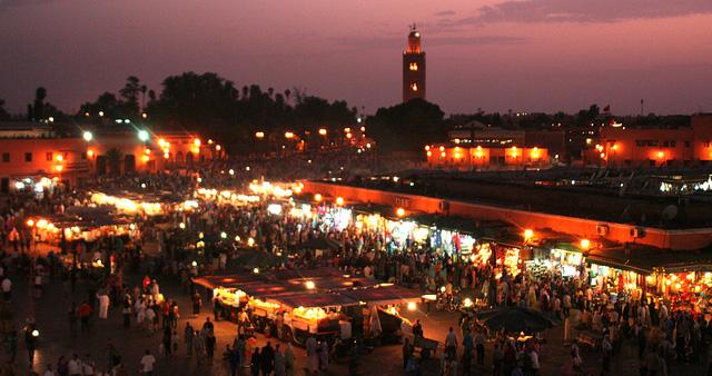 Panorama della città di Marrakech