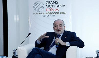 M. Jean-Paul Carteron,  presidente del Forum Crans Montana
