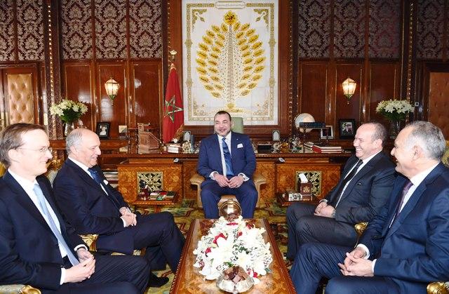 Sua Maestà il Re Mohammed VI riceve in udienza Laurent Fabius.