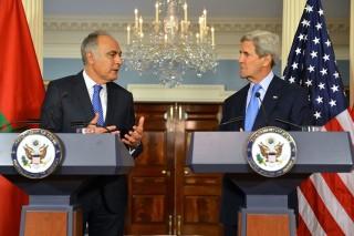 Il Ministro degli Affari Esteri e della Cooperazione, Salaheddine Mezouar e il Segretario di Stato americano , John Kerry