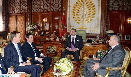 SM il Re Mohammed VI riceve il primo ministro francese Manuel Valls