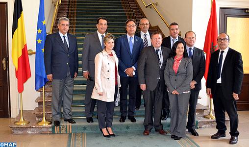 Il presidente della Camera dei rappresentanti del Belgio con delegazione parlamentare del Marocco