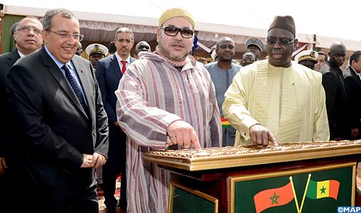 Sua Maestà il Re Mohammed VI e il presidente senegalese Macky Sall