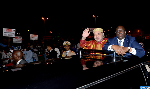 Arrivo di SM il Re Mohammed VI a Dakar
