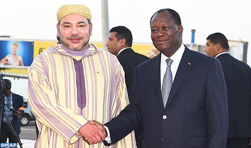 Abidjan: S.M. il Re del Marocco  Mohammed VI  e il Presidente ivoriano, Alassane Dramane Ouattara