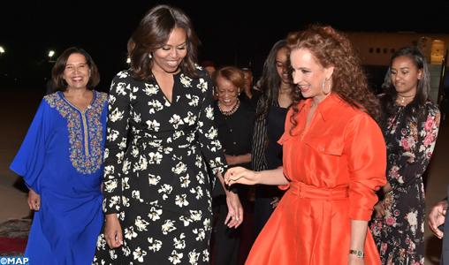 Arrivée_de_Michelle_Obama- in Marocco
