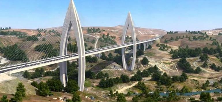 es travaux du plus grand pont à haubans en Afrique avancent
