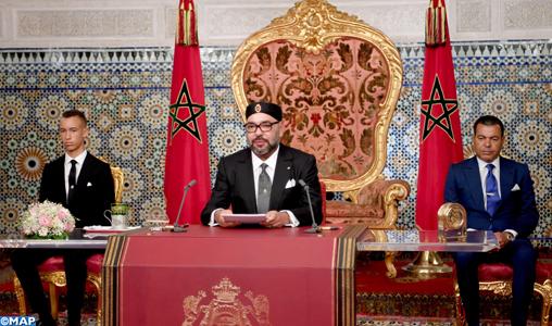 Discours-de-SM-le-Roi-à-la-Nation-65è-anniversaire-Révolution-du-Roi-Peuple-M