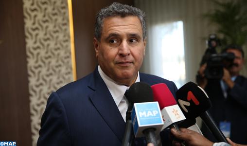 Lever de rideau sur la 11ème édition du salon du cheval: M. Aziz Akhannouch donne une déclaration à la presse _SL