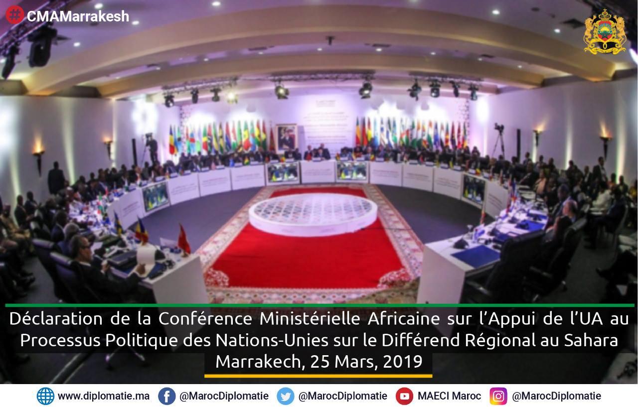 dichiarazioni di marrakech sul Sahara