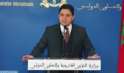 Le ministre des Affaires étrangères et de la coopération internationale, Nasser Bourita, tient un Point de presse_BS