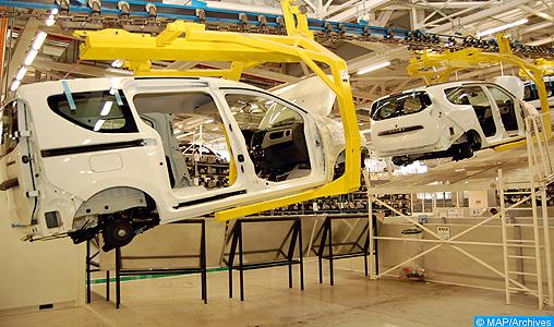 La nouvelle usine de l'alliance Renault-Nissan de Melloussa à Tanger, pierre angulaire d'un pôle d'industrie automobile de dimension internationale.