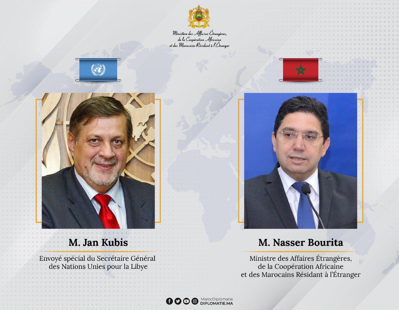 Nasser Bourita Jan Kubis Marocco libia Onu