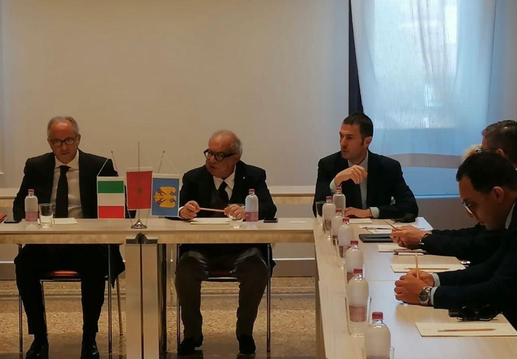 L'Ambasciatore Youssef Balla con il Presidente Confindustria Alto Adriatico sig. Michelangelo Agrusti e il Sindaco di Pordenone